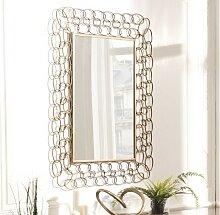 Miroir en métal doré design - Rog