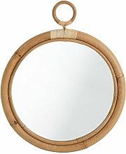 Miroir en rotin ELLA de Sika Design, D. 40