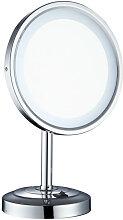 Miroir grossissant avec éclairage LED à poser