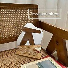 Miroir irrégulier Simple pour la maison,