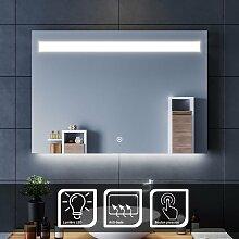 Miroir led 100x70 CM Miroir de salle de bains