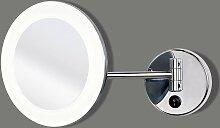 Miroir lumineux Bora LED - salle de bain - chromé