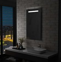 Miroir mural à LED pour salle de bains 60 x 100
