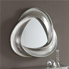 Miroir mural argent laqué design MAITE-L 95 x H