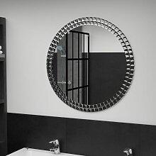 Miroir mural Argenté 70 cm Verre trempé