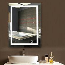 Miroir Mural avec Éclairage LED Interrupteur