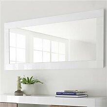Miroir mural blanc laqué MABEL-L 170 x P 5 x H 75