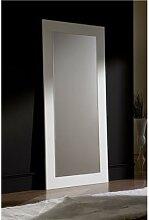 Miroir mural blanc ou noir laqué design JENNY