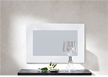 Miroir mural blanc ou noir laqué design SADIO-L