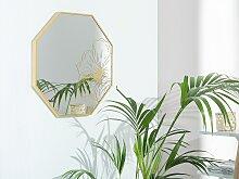 Miroir mural doré 65 x 65 cm