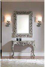 Miroir mural en gris ou doré laqué design CARLA