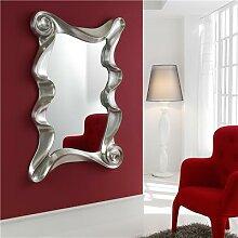 Miroir mural gris argent laqué LILOU 2-L 106 x H