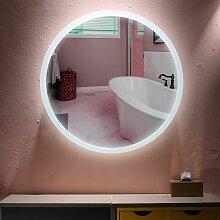 Miroir Mural Rond Lumineux Salle De Bain LED