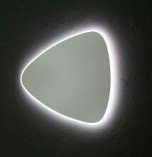 Miroir Réversible Forme De Goutte 100X85 Cm