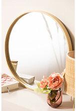 Miroir rond en bois Yiro Ø40 cm Sklum