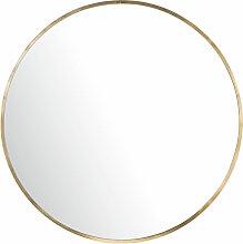 Miroir rond en métal doré D101
