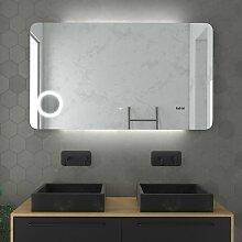 Miroir salle de bain LED auto-éclairant 120x70cm