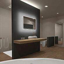 Miroir salle de bain LED rectangulaire