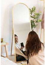 Miroir sur pied en bois de pin (137x45,5 cm) Naty
