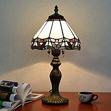 MISLD 20Cm Tiffany Style Table Lampe Chambre À