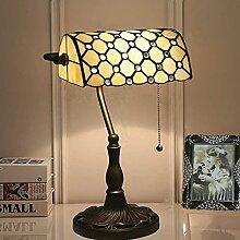 MISLD Lampe De Bureau Bancaire Tiffany Lampe De