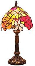 MISLD Lampe De Style Tiffany 8 Pouces Rose, Noble,