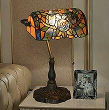 MISLD Lampe De Table 10,6 Cm, Style Tiffany Belle