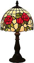 MISLD Lampe De Table 8 Pouces Tiffany Style