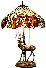 MISLD Lampe De Table Créative Rose Rose Table