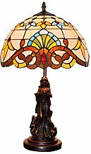 MISLD Lampe De Table Créative Tiffany Lampe De
