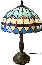MISLD Lampe De Table Rétro Tiffany Style Table