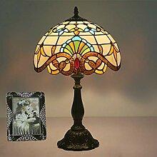 MISLD Lampe De Table Tiffany Table Lampe E27