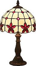 MISLD Lampe De Table Tiffany W8 H15 Pouces Verre
