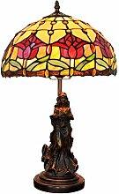 MISLD Tiffany Pastorale Rouge Tulip Lampe Tiffany