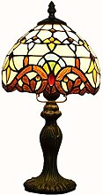 MISLD Tiffany Style Table Lampe Banquière Vitrail