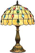 MISLD Tiffany Table Lampe Coloré Pearl Coloré