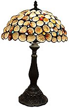 MISLD Tiffany Table Lampe Shell Abat-Jour Gemstone