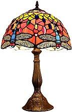MISLD Tiffany Table Lampe Vintage Vitrail Terrain