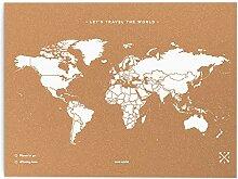Miss Wood Map XL-Carte du Monde en LiÈ Ge 60x90