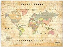 Miss Wood Old School XL - Carte du Monde en