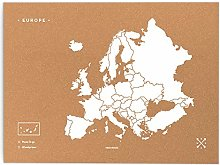 Miss Wood Woody Map Carte du Monde en liège avec