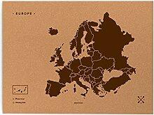 Miss Wood Woody Map L–Carte du Monde en