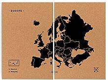 Miss Wood Woody Map XXL–Carte du Monde en
