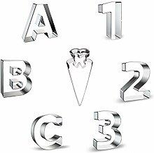 Miuezuth Lot de 123 emporte-pièces en acier