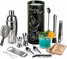 Mixology Kit de barman 14 pièces Shaker à
