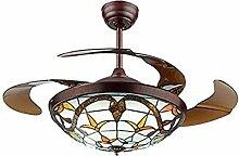 MJJLT Lampes De Ventilateur De Plafond Tiffany De
