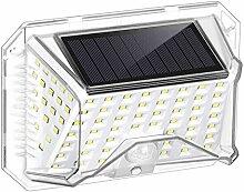 MJJLT Lampes solaires extérieures, 90 LED Capteur