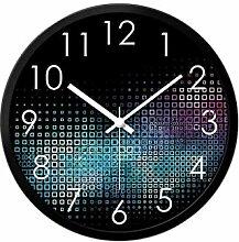 MJK Horloge Murale de Nouveauté, Horloge Noire