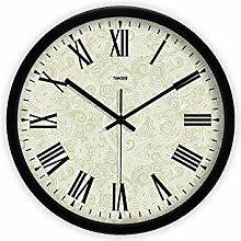 MJK Horloge Murale Fantaisie, Chiffres Romains de