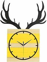 MJK Horloge Murale Fantaisie, Horloge En Bois de